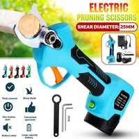 16.8V 500W Cordless Electric Rechargeable Lithium Pruning Shears Secateur Branch Cutter Electric Fruit Pruning Garden Tool