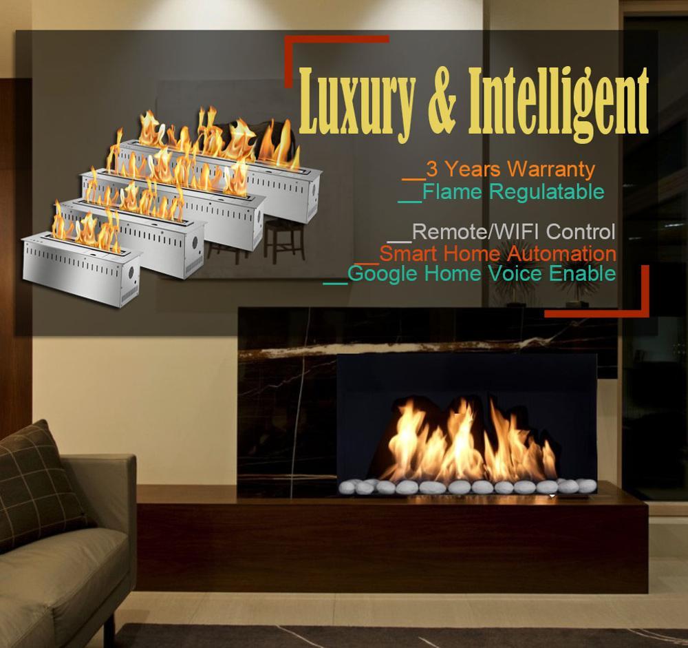 Inno Living 30 Inches Chimenea Etanol Quemador Intelligent Electric Bio Fireplace