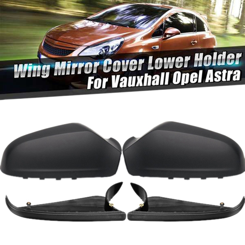 Door Side Mirror Housing Wing Mirror Cover for Vauxhall Opel Astra H Mk5 2004-2009 1 Pair