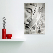 Buddha Zen Calligraphy Black White Canvas Painting Print Bedroom Home Decor Modern Wall Art Oil Painting Poster Pictures Artwork