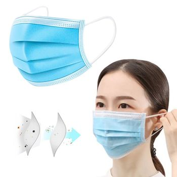 20/40/60pcs 3-layer Anti-fog Masks Disposable Dust Masks Anti-flu Formaldehyde Protective Masks Thickened  Masks Non-woven c