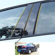 Для Mitsubishi Lancer EX 2010-2018 автомобильный Поликарбонат материал столб крышка отделка двери окно пианино черная молдинговая наклейка пластина