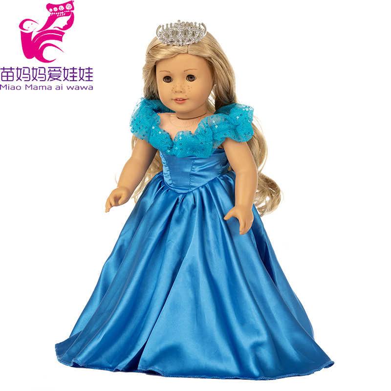 18 pulgadas american ag muñeca chica vestido de cola de arco iris bebé recién nacido muñeca abrigo de piel para 18 pulgadas muñeca niño usando