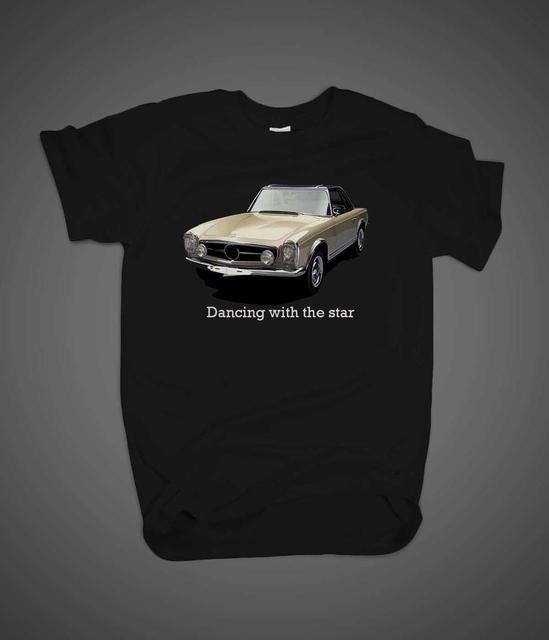 2019 mode col rond vêtements nouveau 1963 allemagne voiture 230 Sl danse avec la Star vieille école légendaire t-shirt décontracté chemises