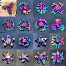 Fidget Spinner Autism Metal-Bearing Relieves-Stress ADHD Rainbow-Heptagonal Zinc-Alloy
