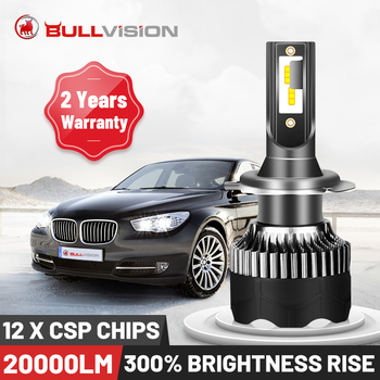BULLVISION H11 H4 H7 Led 12V Mini 9005 9006 Headlight Lamp 20000Lm High Brightness H1 H8 H9 Hb3 Hb4 Led Car Light Bulb Turbo Csp