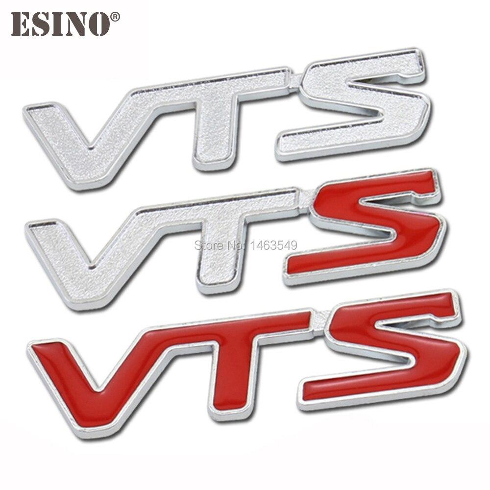 Emblema adesivo em metal para vts c2 c4, emblema em liga de zinco e metal 3d c5 c-qurate
