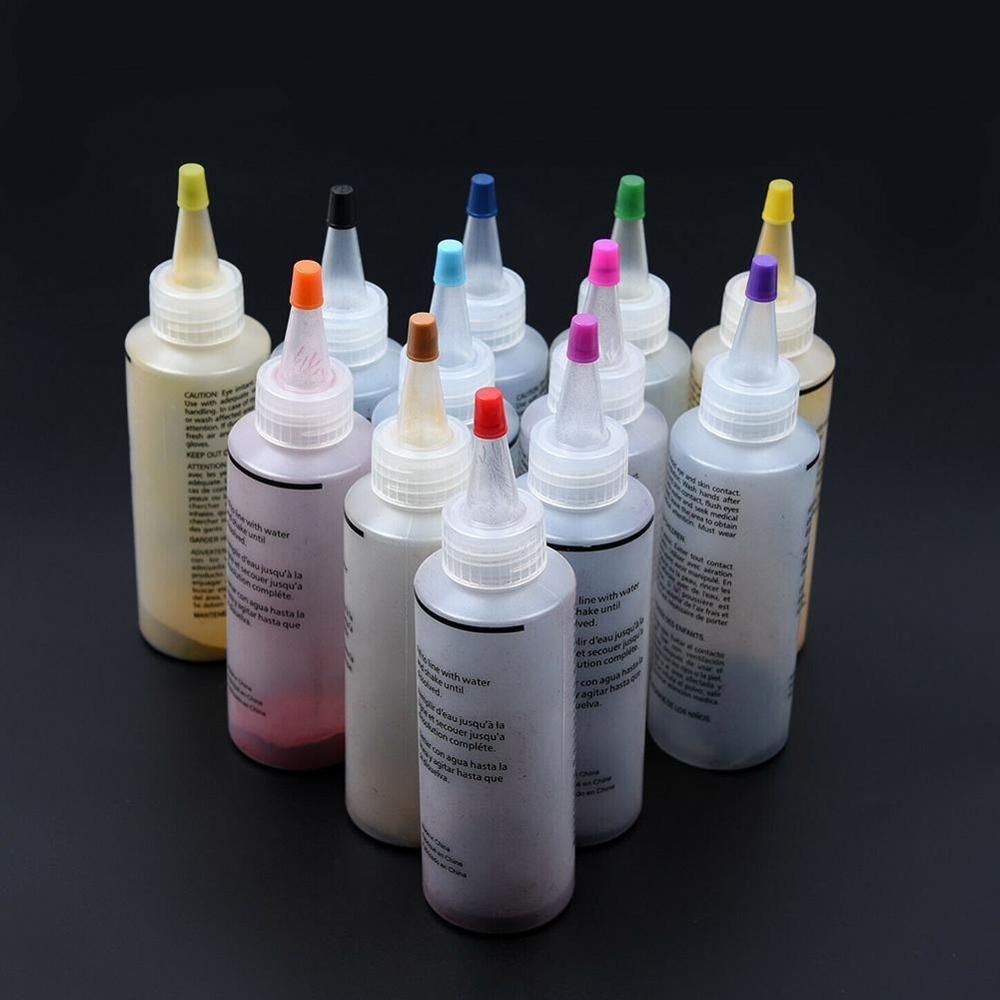 12 Bottles Tulip One Step Tie Dye Kit Fabric Textile And Permanent Set DIY Linen Pigment Paint Cold Dye Making Cotton Water