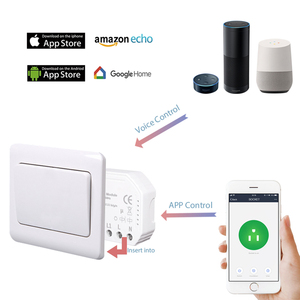 Image 4 - Tuya smart WiFi switch module turn your old switch into smart , compatible with alexa , google home ,IFTTT , timer switch module