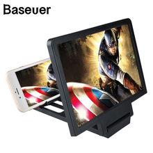 Baseuer Dropship 3D Screen Amplifier Phone Magnifying HD Stand for Video Folding Screen Enlarged Eyes Protection Phone Holder