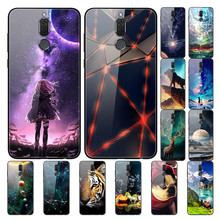 For Huawei Mate 10 Lite Case Tempered Glass Soft Bumper Hard 20 Pro 30 8 9 Mate10 Cover