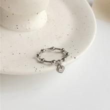 Ins nueva moda gótico Corazón en forma de colgante hombres anillos para mujeres joyería cumpleaños regalo romántico boda compromiso Envío Directo