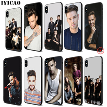 IYICAO Liam Payne Soft Black Silicone Case for iPhone 11 Pro Xr Xs Max X or 10 8 7 6 6S Plus 5 5S SE printio max payne
