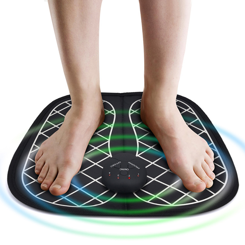 Electric Foot Massager Pad Blood Circulation Relax Tense Foot Muscles Feet Mat Foot Circulation Massager Cushion For Men Women