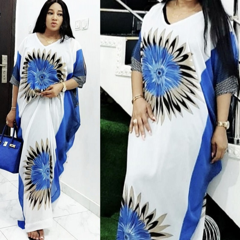 Summer African Dresses For Women 2020 Dashiki Plus Size Leopard Long Maxi Dress Traditional African Clothing Fairy Loose Dreams