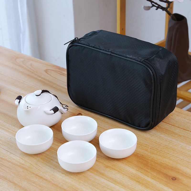 Ceramic teapot kettle gaiwan Chinese Travel Ceramic tea cup for puer chinese tea pot portable tea set drinkware Free shipping 11