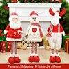 Figures Santa Claus Doll Christmas Decorations For Home Merry Christmas Ornaments Xmas Garden Decoration Navidad New Year