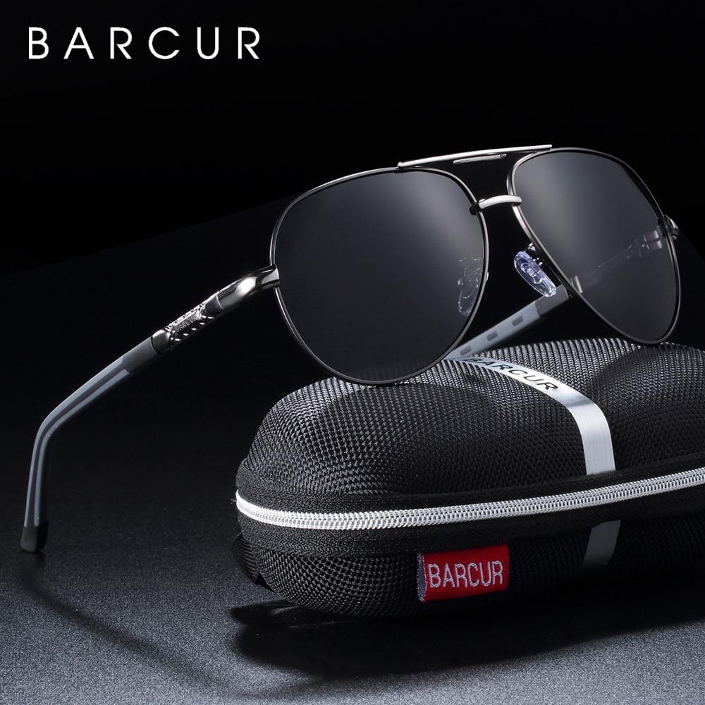 BARCUR Men Sunglasses Polarized UV400 Protection Driving Sun Glasses Women Male Oculos De Sol