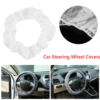 Universal Disposable Car Steering Wheel Covers Transparent Plastics Protective Cover Auto Interior Accessories 20/50/100/250pcs image