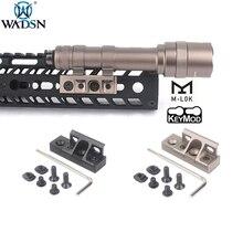 WADSN страйкбол M-lok Keymod опрокидывающийся Пикатинни m lok крепление для Surefir M300 M600 M600C M600B охотничий фонарик для оружия