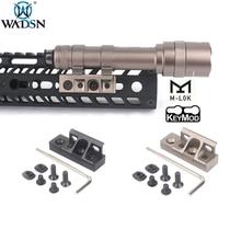 цена на WADSN Airsoft M-lok Keymod Rollover M lok Flashlight Rail Mount For Surefir M300 M600 M600C M600B Hunting Weapon Scout light