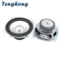 Tenghong 2pcs 3 Inch 4Ohm 10W Full Range Speakers Square Portable Audio Sound Speaker Unit For Home Theater Loudspeakers DIY