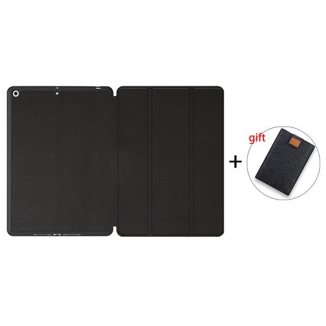 Black-TPU Champagne MTT Case For iPad 10 2 inch 7th 8th Generation 2020 Soft TPU PU Leather Flip