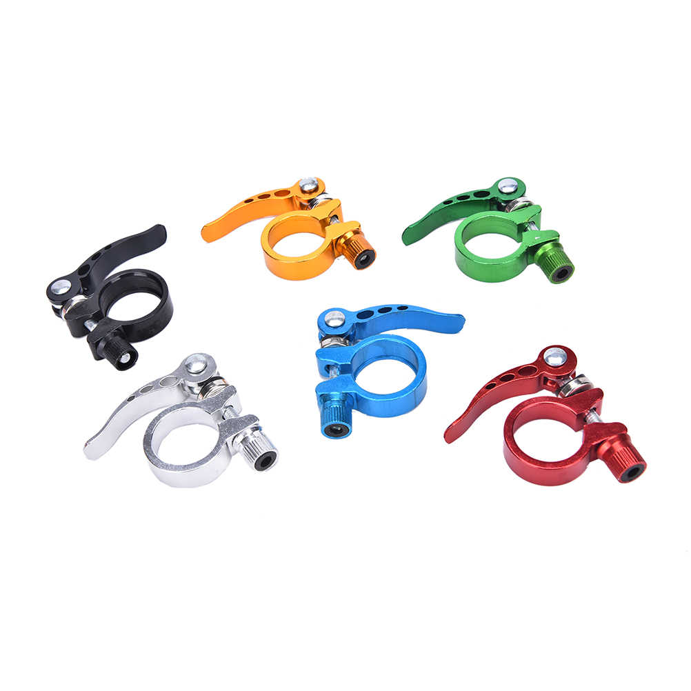 Alloy Cycling Bike Quick Release Seat Post Bolt Binder Clamp 28.6//31.8mm YN SKUS