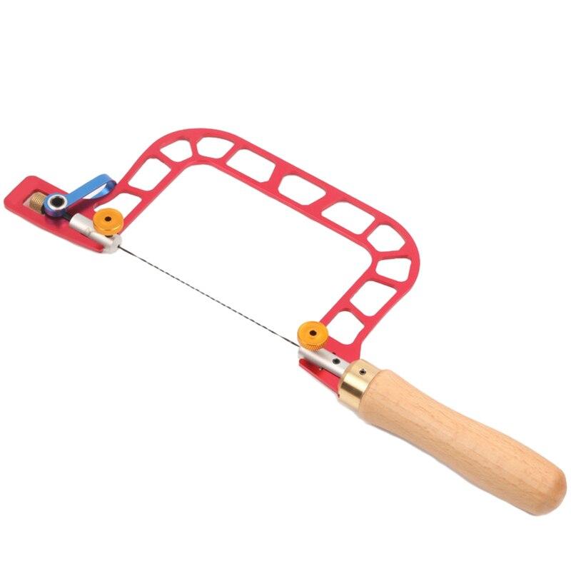 Łatwe-w kształcie litery U piła ręczna z dźwignią napięcie piła ręczna narzędzie spiralna piła ostrze do narzędzie jubilerskie narzędzie do drewna