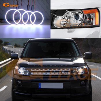 Ultra bright COB led angel eyes kit halo rings For Land Rover Freelander 2 LR2 Pre facelift 2006-2011 Xenon Headlight