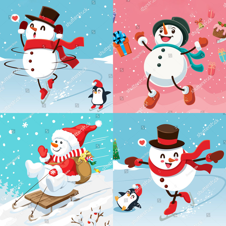 Metal Cutting Dies Christmas Snowman Sled Stencils For Diy Scrapbooking