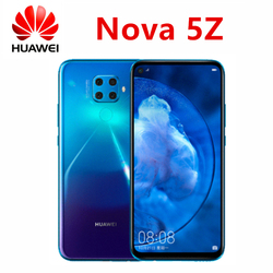 Original HUAWEI nova 5z Cell Phone 4000mAh kirin 810 Rear 48.0 MP AI 4 shot Front 32 million portrait super night view Google