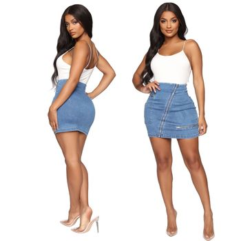 Fashionable European and American sexy versatile jeans skirt in 2020 summer