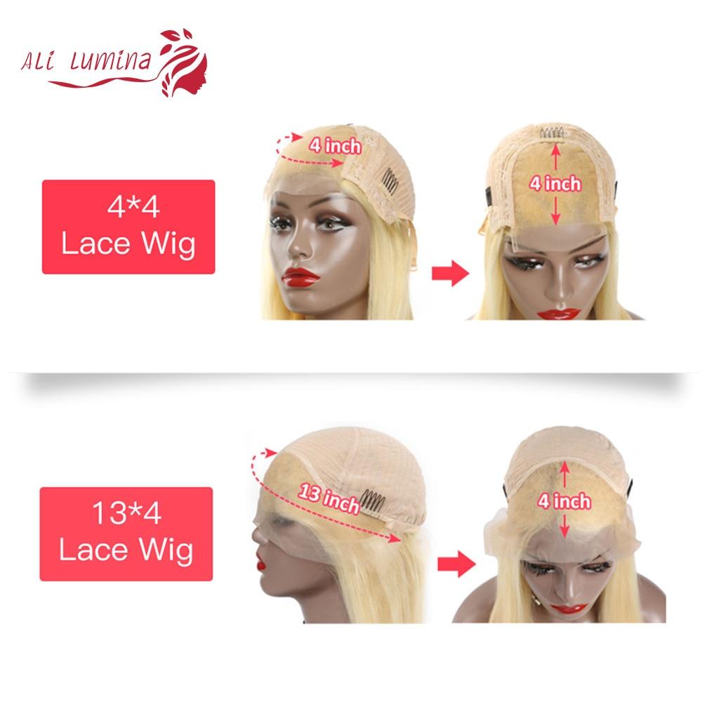 613 Honey Blonde Straight  Lace Frontal Wig ali lumina 5