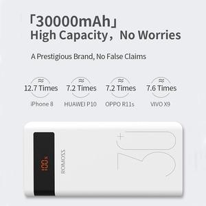 Image 2 - ROMOSS Banco de energía de 30000mAh para móvil, Powerbank PD de carga rápida 3,0, cargador de batería externa portátil para iPhone y Xiaomi