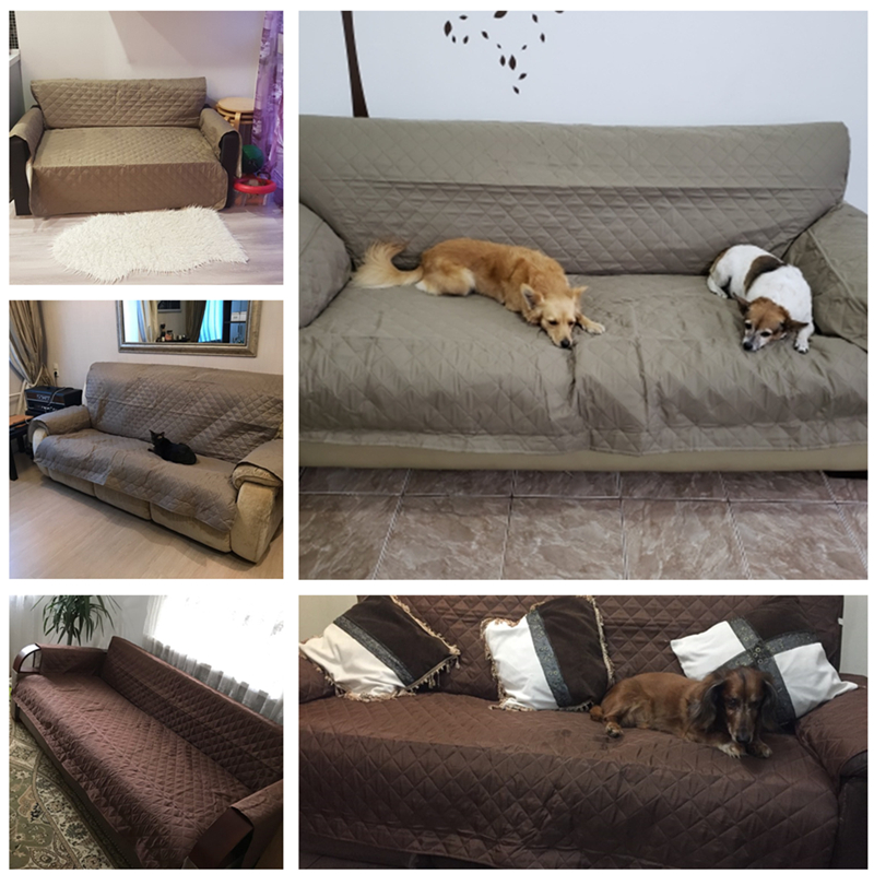 Image 5 - Waterproof Sofa Cover Removable Pet Dog Kid Mat Armchair Furniture Protector Washable Armrest Couch Covers Slipcovers 1/2/3 Seat-in Sofa Cover from Home & Garden