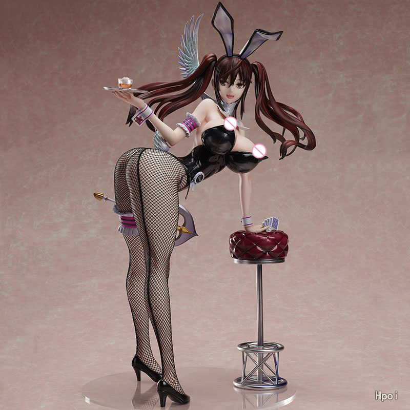 GZTZMY Native Raita Magical Girl Series Erika Kuramoto soft body Bunny Ver. PVC Action Figure Statue Anime <font><b>Sexy</b></font> Girl Model Toys image