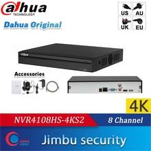Dahua Nvr 4K Video Recorder 8ch P2p NVR4108HS 4KS2 H.265 Tot 8MP Resolutie Hdmi/Vga Gelijktijdige Video Output
