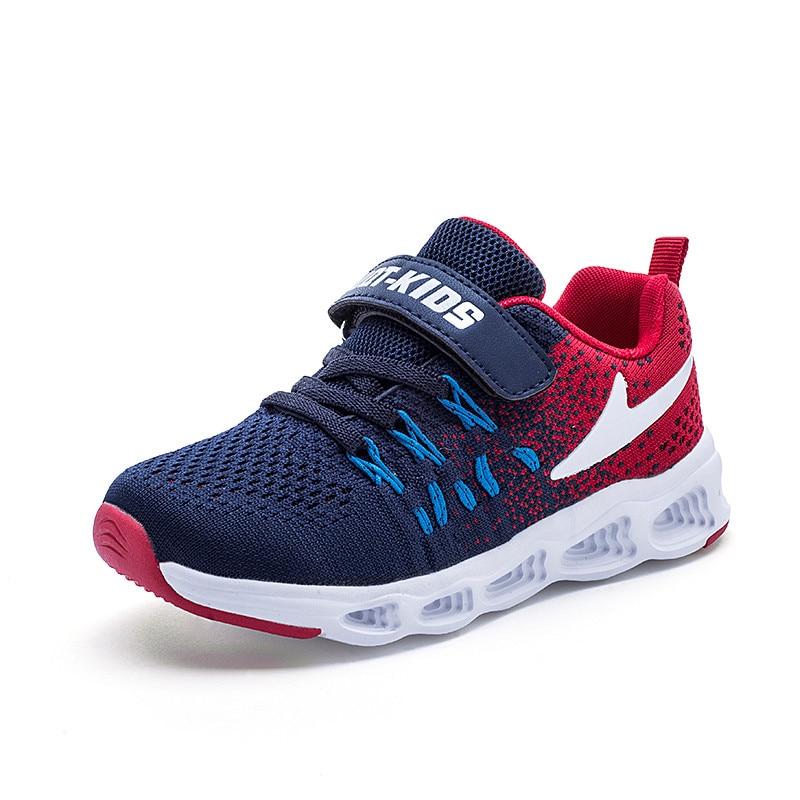 2020 Весенняя детская обувь, кроссовки для мальчиков, дышащая детская обувь для бега, спортивная обувь для мальчиков, повседневная детская об...