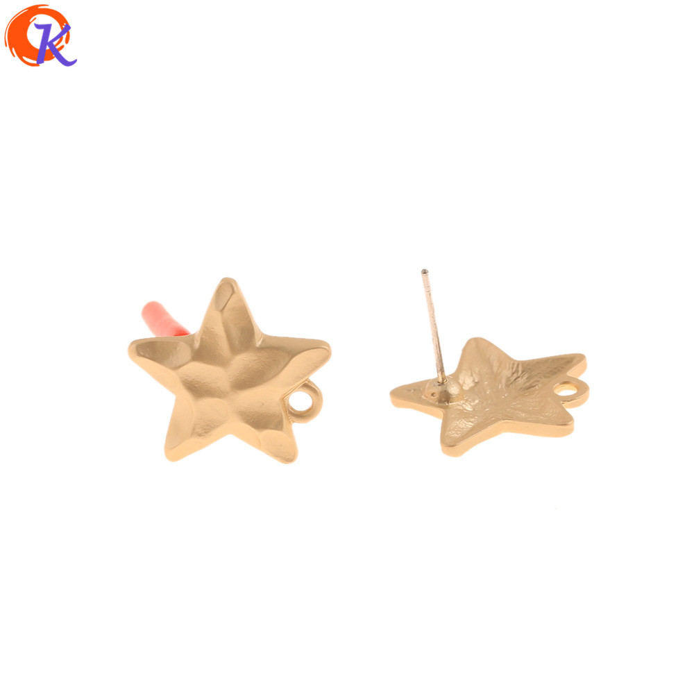 Cordial Design 100Pcs 17*17MM Jewelry Accessories/DIY Making/Earrings Stud/Matte Gold/Star Shape/Hand Made/Jewelry Findings