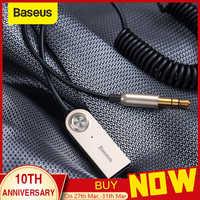 Transmisor Bluetooth Baseus receptor Bluetooth inalámbrico 5,0 AUX 3,5mm Cable de Audio adaptador Bluetooth para altavoz auriculares