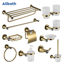 Gold towel rack metal hanger wall mounted brass bathroom hardware set carved  towel rack for all style in one shop. european style antique bathroom towel rack set wall mounted carved bathroom hardware set luxury bathroom products