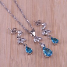 11 colors Fashion Silver Color Pear Clear Crystal Necklace E