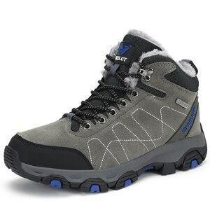 Image 3 - סתיו חורף Mens טיולים מגפי נשים של נעלי ספורט נעלי טיפוס הרים טקטי ציד הנעלה חדש קלאסי חיצוני ספורט גבר