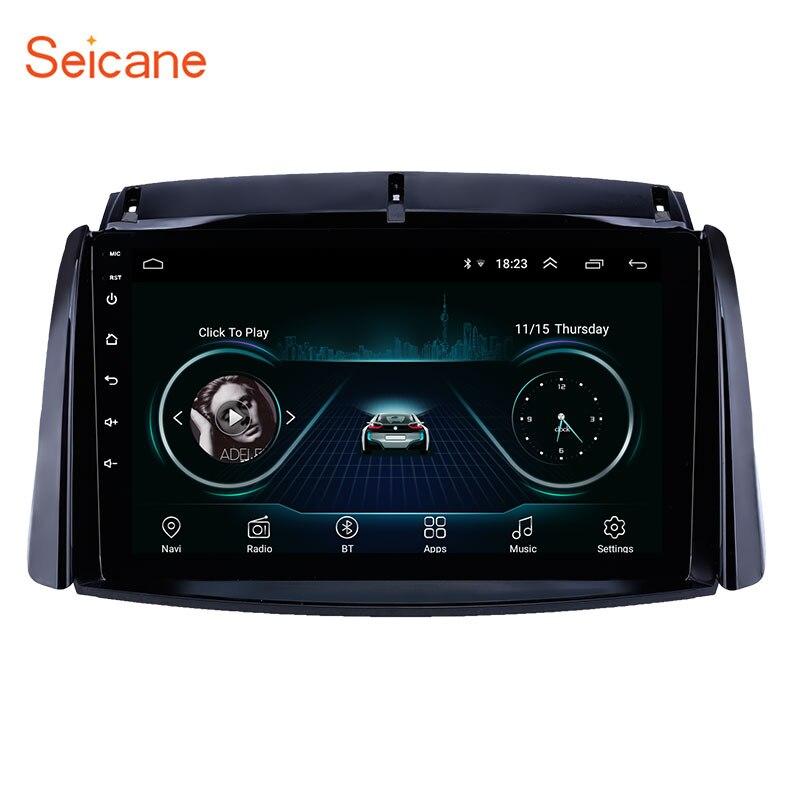 Seicane 9 pouces Android 8.1 autoradio pour 2009-2016 Renault Koleos GPS Navigation USB AUX support Carplay DVR OBD TV numérique