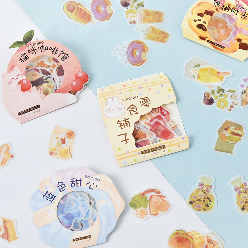 Gluttony Series Kawaii Cat Coffee Decorative Stationery Stickers Scrapbooking DIY Diary Album Stick Lable