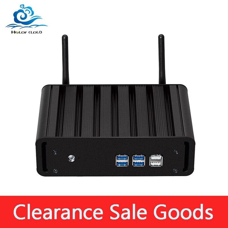 Clearance Sale Core I7 5500DU Mini PC Barebone WiFi HDMI VGA 6*USB HTPC TV BOX Desktop Family Mini Computer PC
