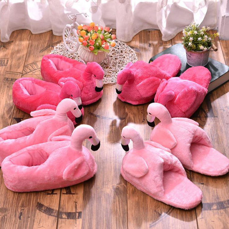 Winter Slippers Women Creative Fun Home Slippers Warm Women Shoes Unicornio Woman Unicorn Slippers Fur Flamingo Cotton Shoes C93