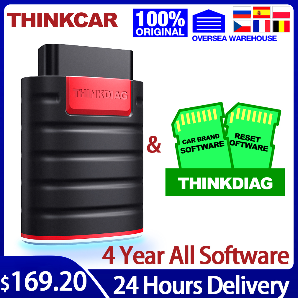THINKCAR OBD2 Bluetooth Diagnostic Tool Scanner ThinkDiag OBD 2 Code Reader Professional Auto 15 Reset Service PK EasyDiag AP200