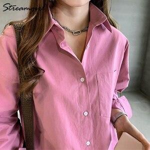 Image 5 - Kadın gömlek resmi Vintage bluz bayan artı boyutu üstleri OL Chemise Femme Manche Longue 4XL büyük boy pamuklu beyaz gömlek kadın